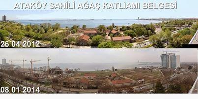 Ataköy sahilindeki inşaatlara 'dur'