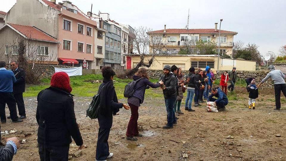 İmrahor Bostanı'nda polis eşliğinde ekim yapıldı