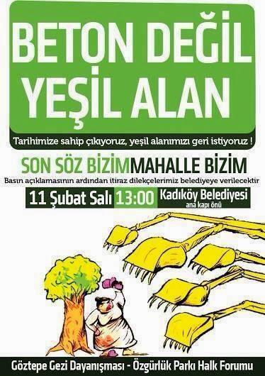 """""""Göztepe Tuğlacıbaşı Fidanlığı yeşil kalsın!"""""""