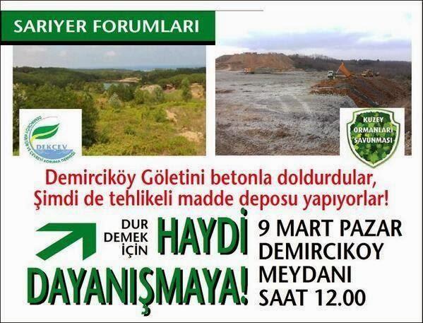 9 Mart Pazar Demirciköy'de Eylem Var!