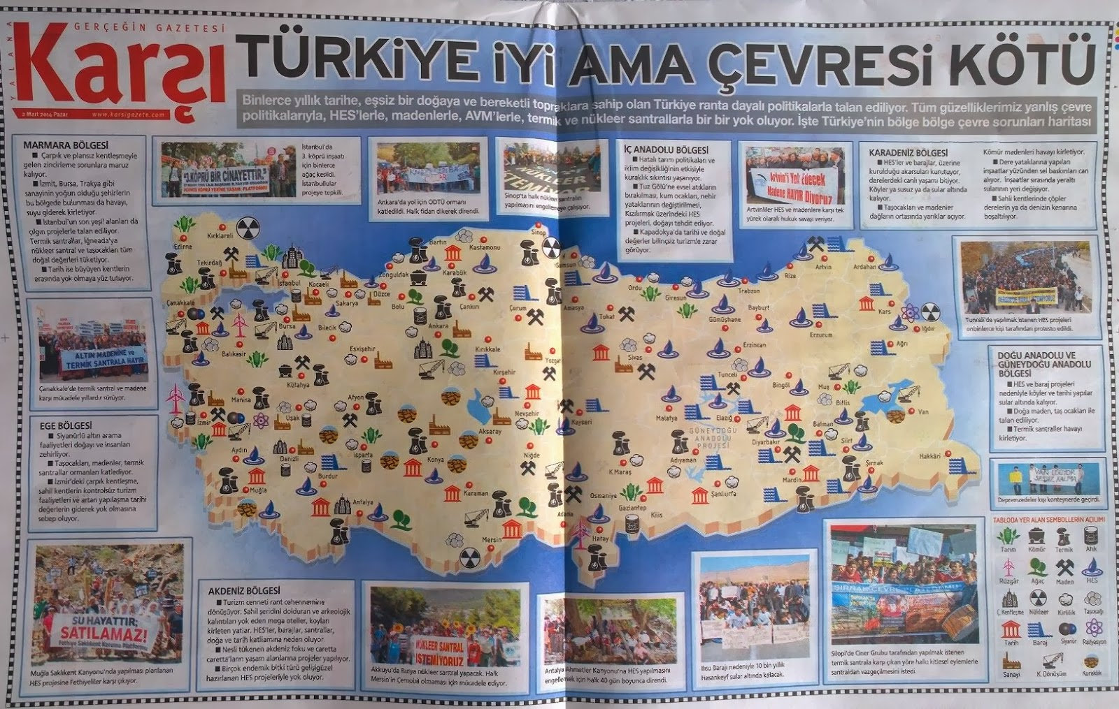 Türkiye İyi Ama Çevresi Kötü