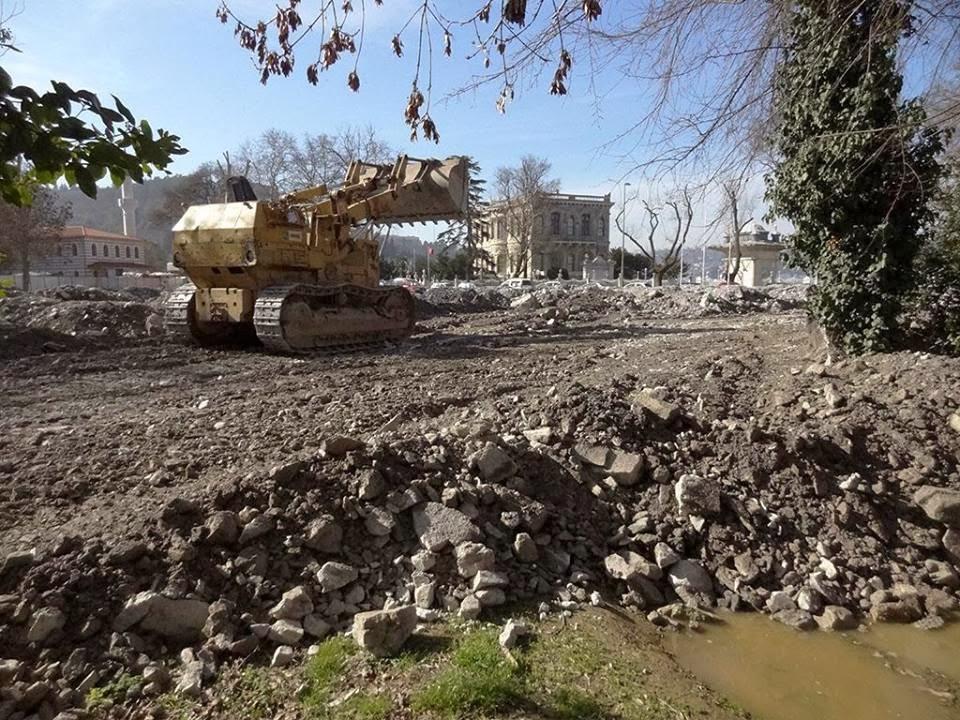 Tarihi Küçüksu Mesiresi'ne beton döktüler.