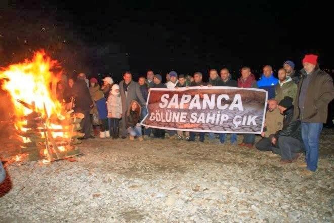 Sapancalılar'dan Sapanca Gölü'ne Sahip Çık Eylemi