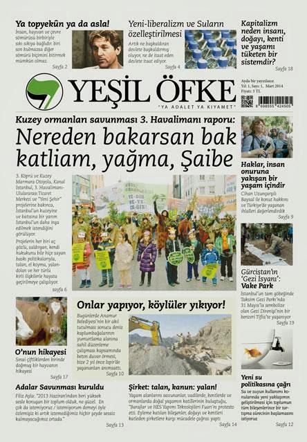 Yeşil Öfke'den aylık gazete