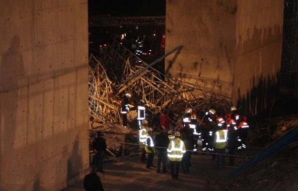 3. Köprü inşaatı göçüğünde üç can kaybı