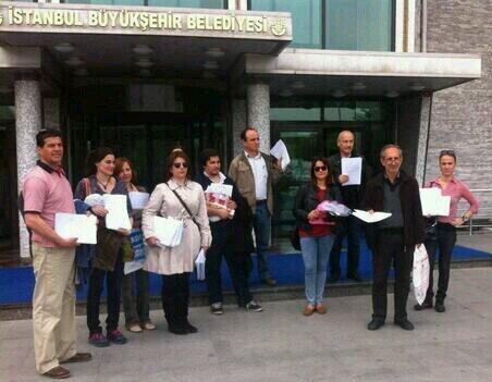 Kuyubaşı Fidanlığı için imzalar belediyede