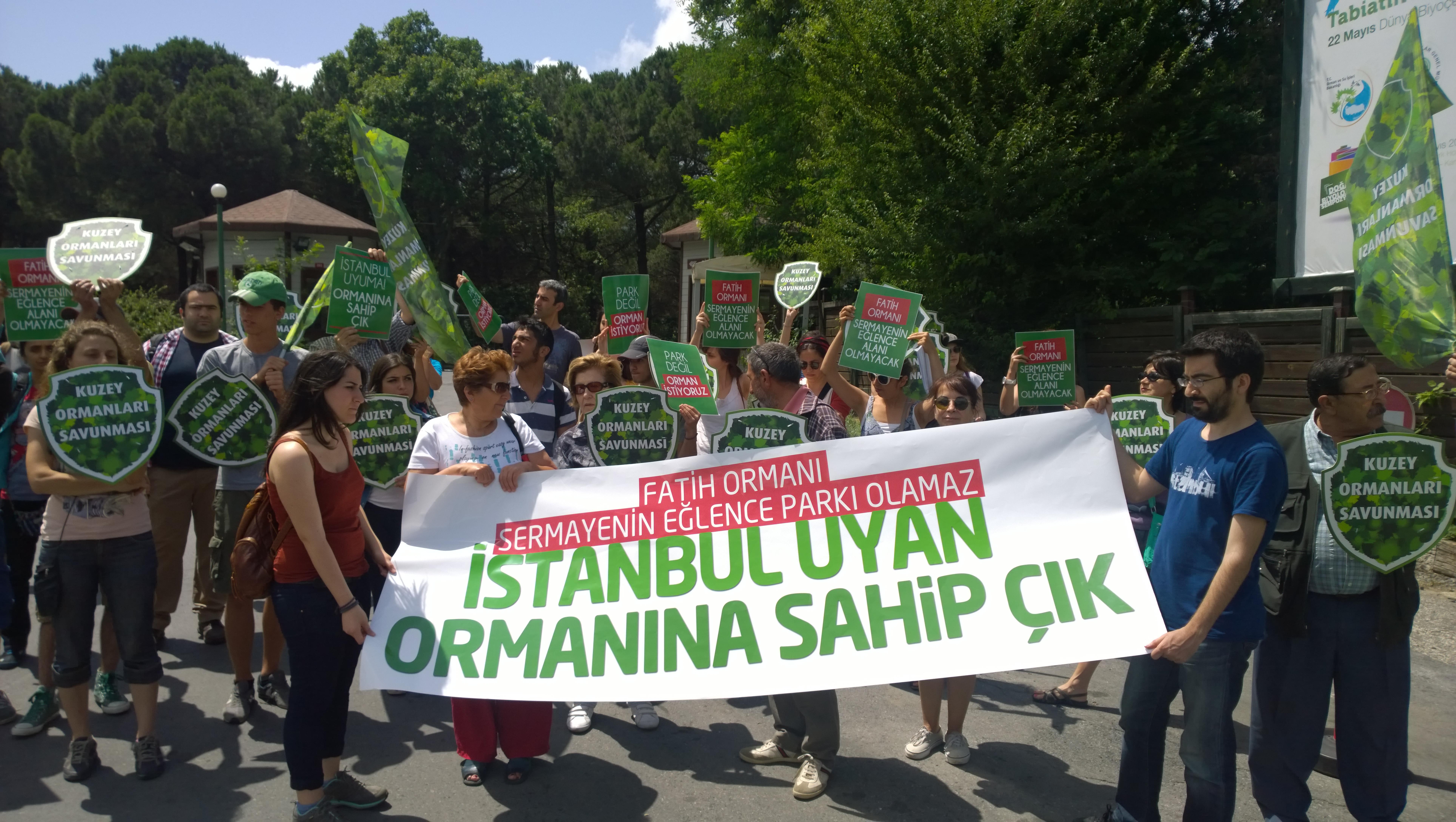 28 Haziran Cumartesi Fatih Ormanı eylemimiz ardından…