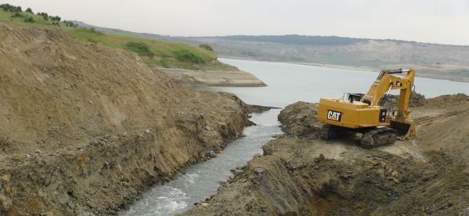 3. Havalimanı inşaatındaki göl suları Karadeniz'e boşaltılıyor