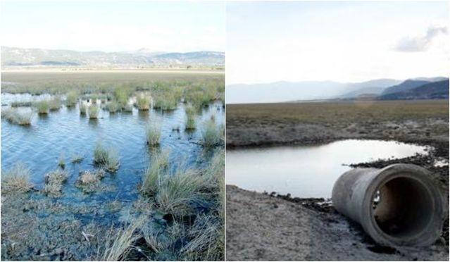 Burdur Gölü'ne üç kanalizasyon hattı