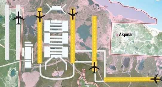Üçüncü havalimanı kamulaştırmasına durdurma