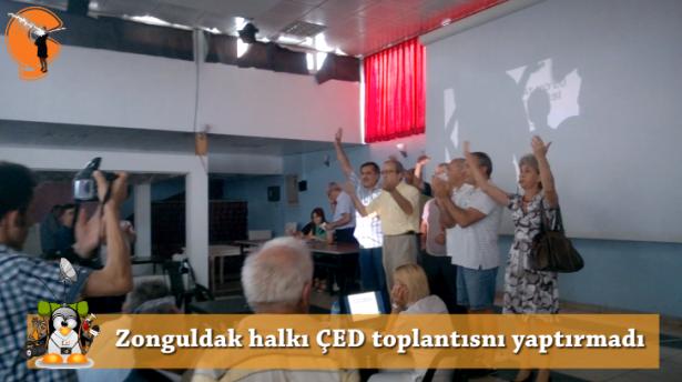 Zonguldaklılar ÇED toplantısını yaptırmadı