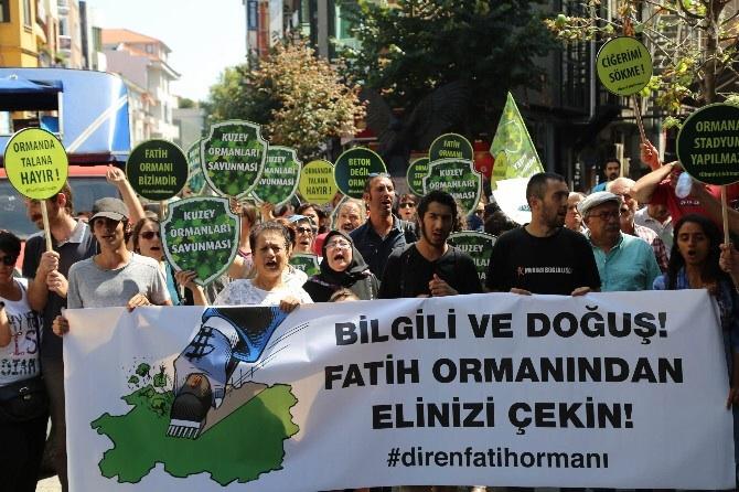 Fatih Ormanı savunucuları Bilgili'ye yürüdü