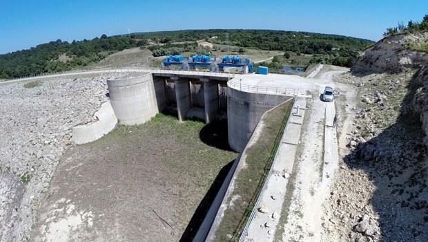 İstanbul'da Pabuçdere Barajı tamamen kurudu