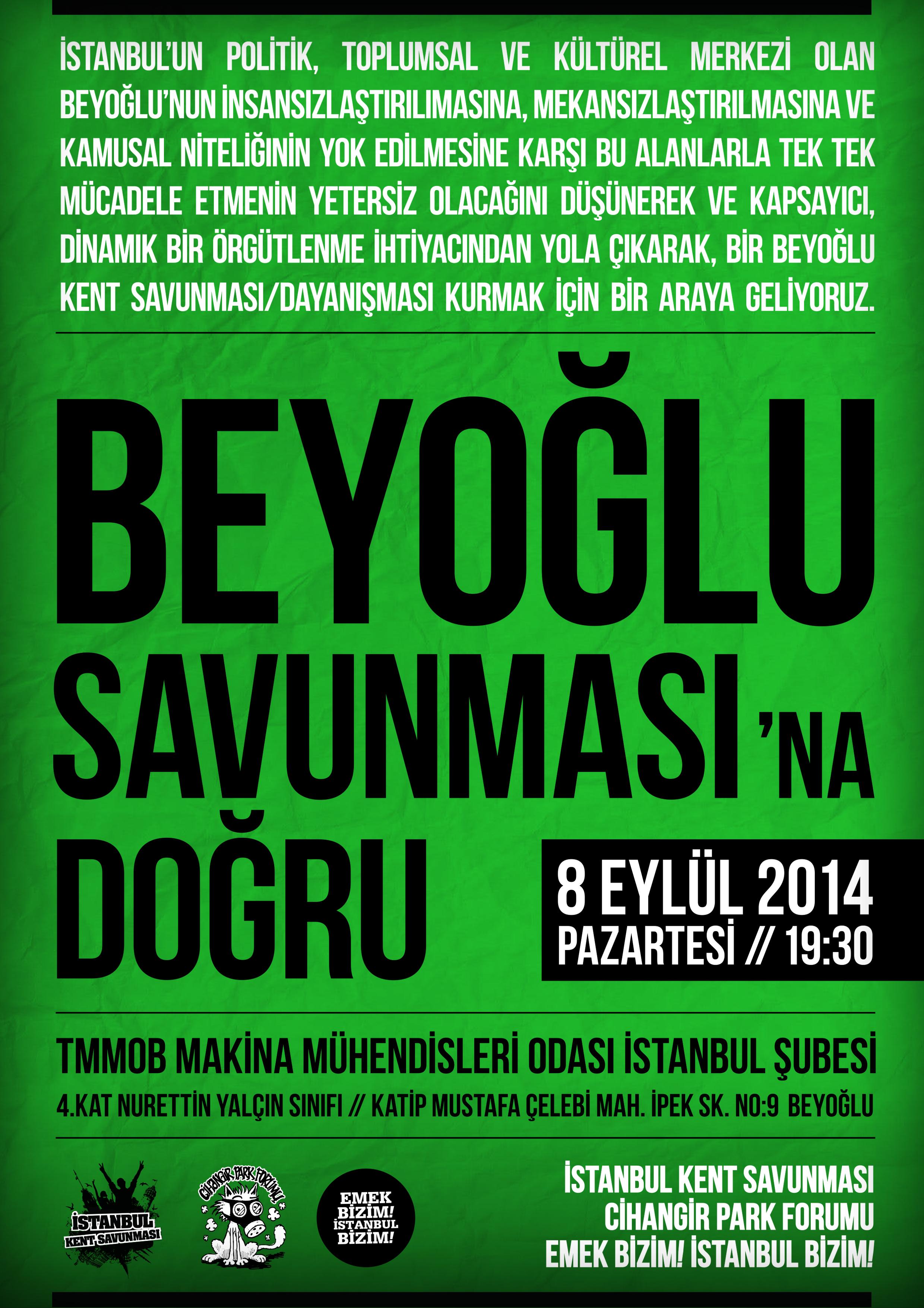 BEYOĞLU SAVUNMASI'NA DOĞRU!