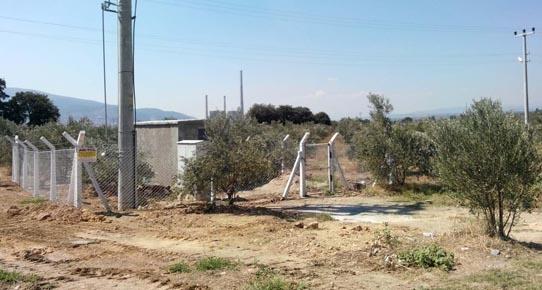 Soma'da o zeytinliklerin çevresine tel örgü çekildi