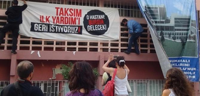 """""""Hastane yok, Taksim İlkyardım'ı geri verin"""""""