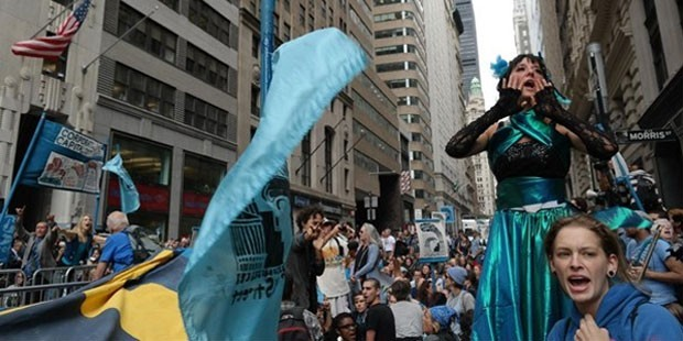 Wall Street'i bu sefer de çevreciler işgal etti!
