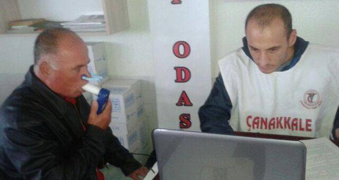 Tabip odasından Karabiga halkına solunum fonksiyon testi