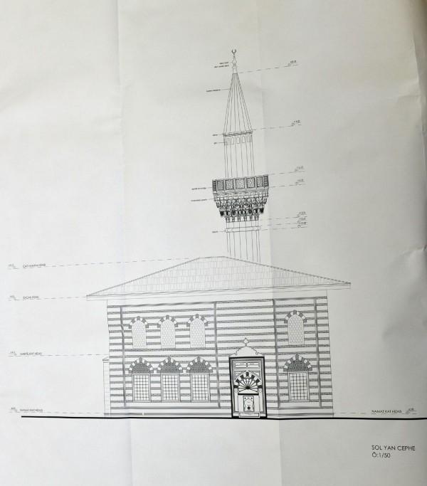 İşte 'butik camii'nin planı