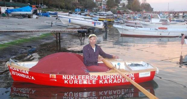 70 Gündür Nükleer Santrallere Karşı Kürek Çeken Hüseyin Ürkmez 2 Kasım'da İstanbul'da