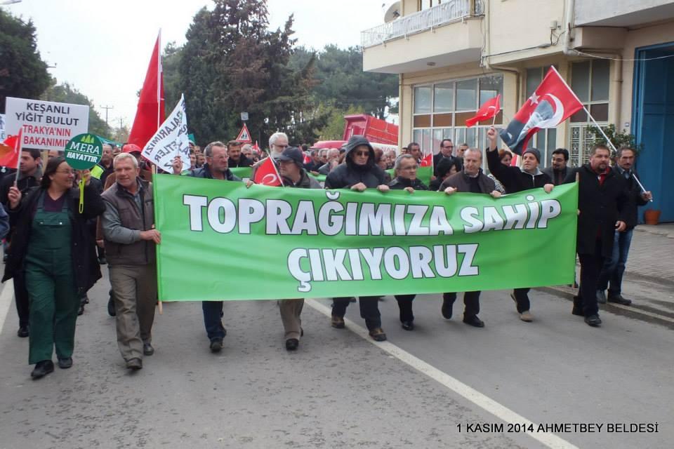 """Lüleburgaz Halkı: """"Meralar köylünündür şirketlere kiralanamaz!"""""""