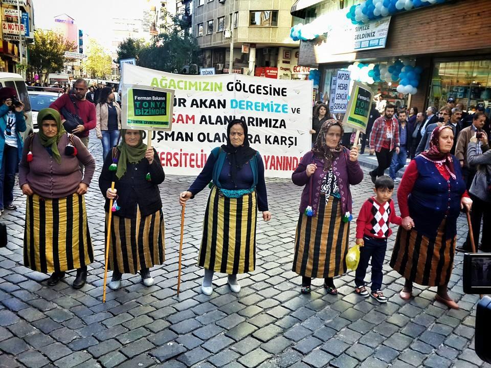 Dereleri, ormanları, toprağı için mücadele edenler Trabzon'a aktı