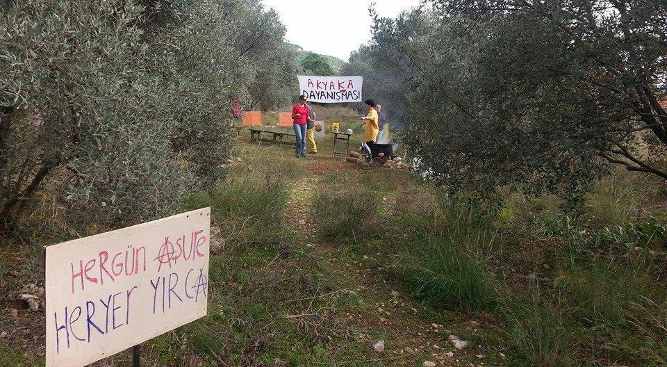 AKYAKA'DA 'ZEYTİNLERİN AHI İÇİN' AŞURELİ PROTESTO