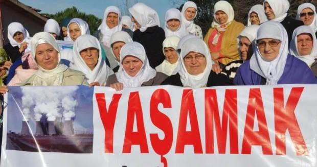 Samsun'da Termik Santrale Karşı Kadınlardan 'Beyaz Çember' Hareketi