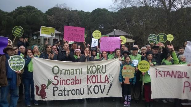 İstanbullu ısrarcı: Fatih Ormanı'na patron istemiyoruz!