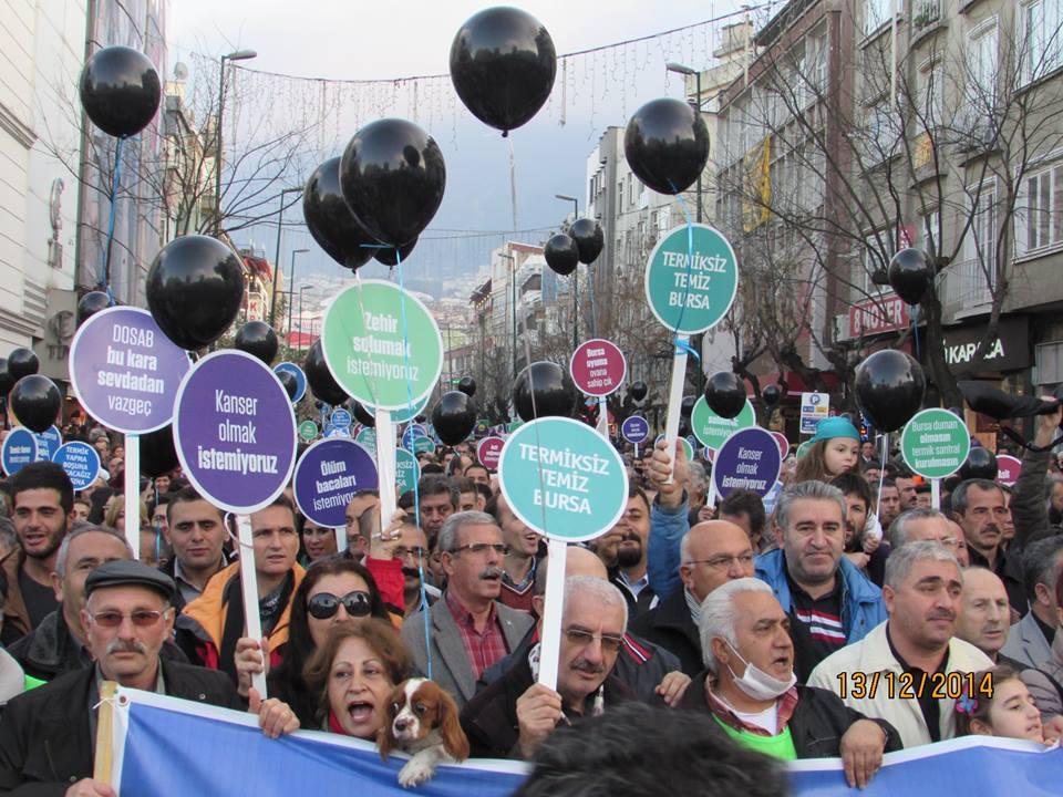 Bursa'da yüzlerce kişi tek ses: Termiğe inat yaşasın hayat!