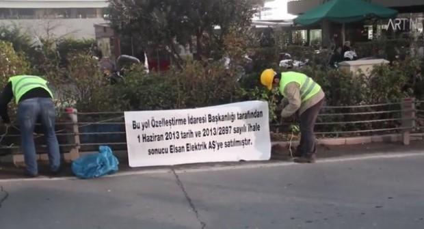 Yatağan İşçilerine Destek İçin Maslak Yolu Özelleştirildi, Yol Kapatıldı
