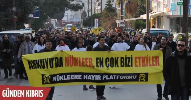 Nükleere Hayır Platformu, Lefkoşa'da yürüyüş düzenledi