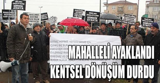 Kocaeli, Çayırova'da Mahalleli Ayaklandı, Kentsel Dönüşüm Durdu