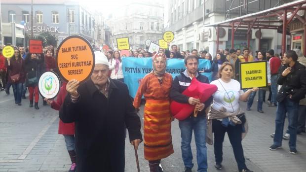 Artvin'liler HES'e Karşı Eylemlerini İstanbul'a Taşıdı