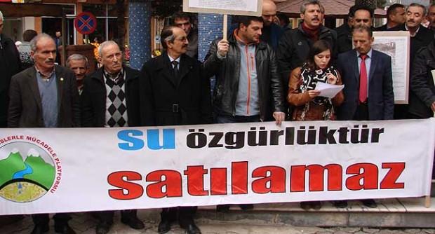 """Gümüşhaneliler: """"Her türlü HES projesine karşı mücadele edeceğiz"""""""