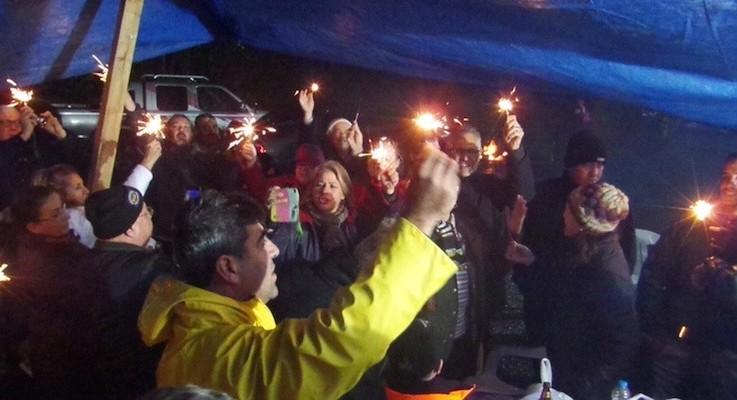 Yeni yıl gecesi nöbet tuttular: 'İztuzu Halkındır'