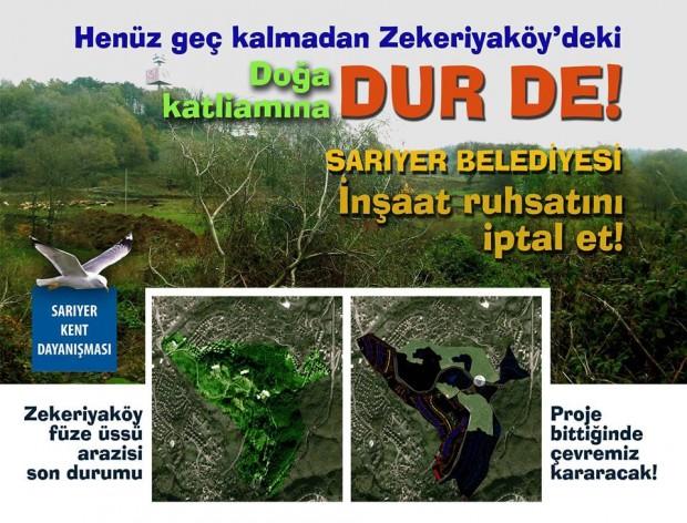 İstanbul, Sarıyer'deki doğa katliamına dur de!