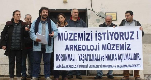 Aliağlılar: 'Kyme Arkeoloji Müzesi ve Kazıevi yıkılmasın'