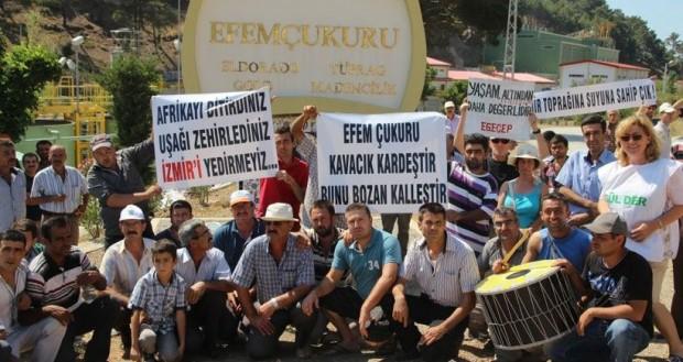 İzmir, Efemçukuru altın madeni,3.5 yıldayeraltı sularını kirletti