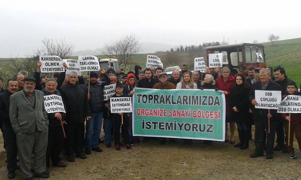 Kaynarca köylüleri OSB'ye karşı mücadeleye başladı