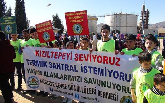 Mardin'de termik santral protestosu