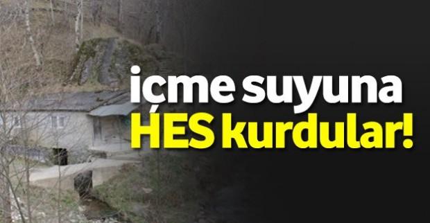 Trabzon'da içme suyuna HES kurmaya kalkışıyorlar!