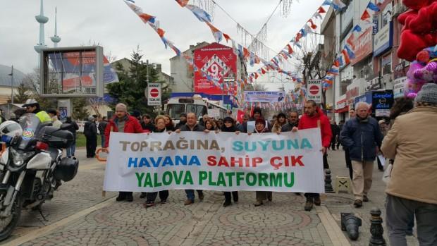 Yalova Platformunun çağrısıyla taş ocaklarına karşı 2 bin kişi yürüyüş yaptı