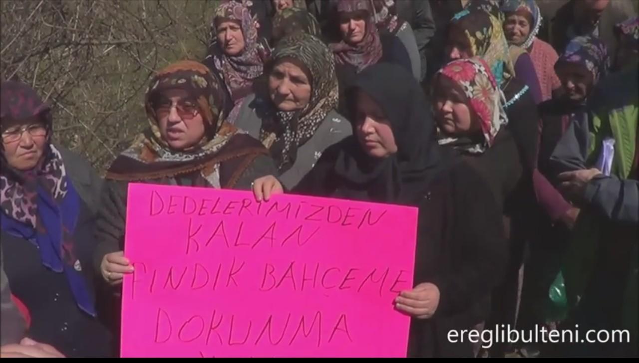 Zonguldak'ta Aşağıdağ köylüleri eyleme gitti, mahkeme taş ocağının yürütmesini durdurdu