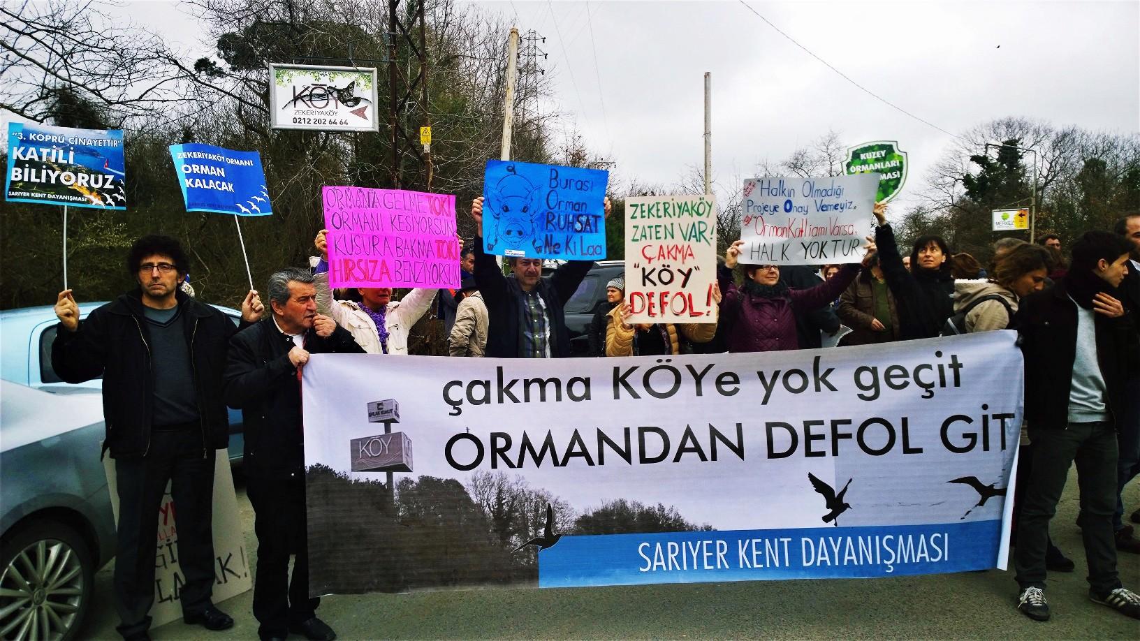 Yaşam savunucuları Zekeriyaköy Ormanı'nı yasadışı şantiyeden temizlemeye gitti
