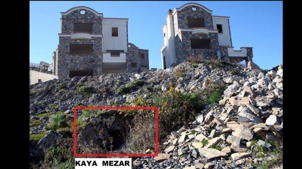 Bodrum'da kaya mezarları üzerine villa tepkisi