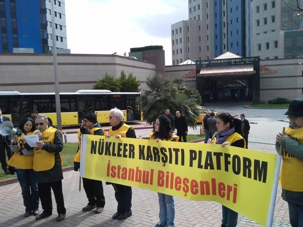 2. İstanbul Nükleer Santraller Zirvesi protesto edildi