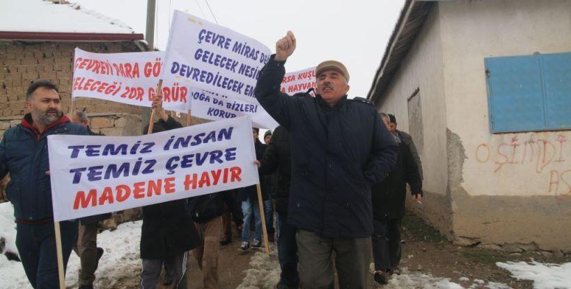 Yozgat'ta Eğlence köylüleri altın madenciliğine direniyor