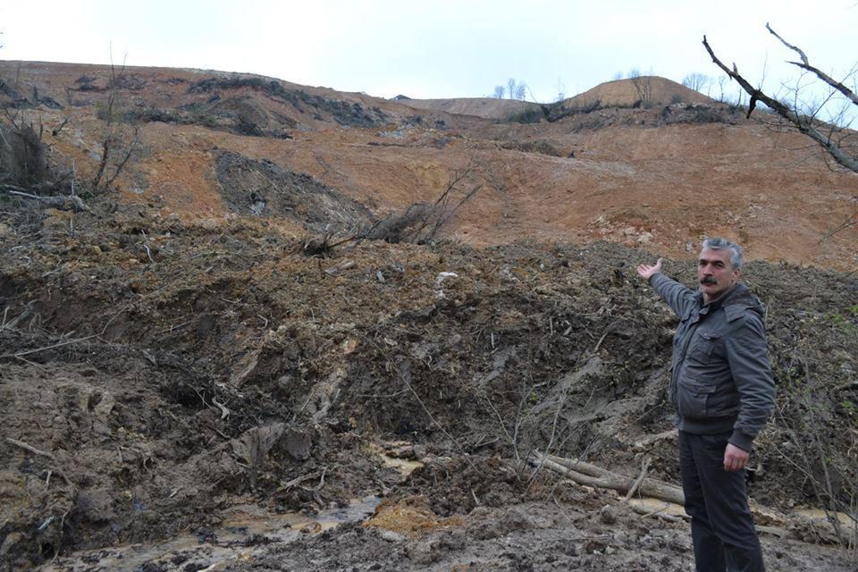 """Fatsa maden alanında toprak kayması! """"Peki ya siyanür havuzları kullanımda olsaydı ne olacaktı?"""""""
