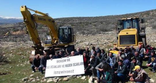 Tunceli'de Köylülerden Taş Ocağı Tepkisi